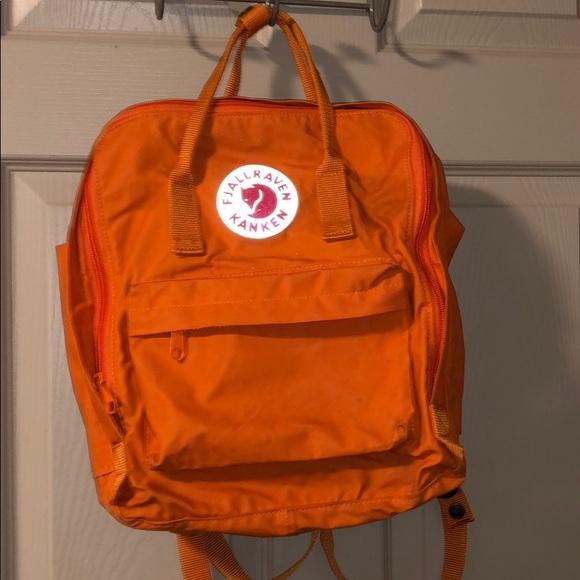 Fjallraven Handbags - Fjallraven Kanken Orange Regular Backpack
